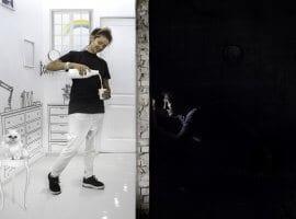 חדר בריחה שחור ולבן