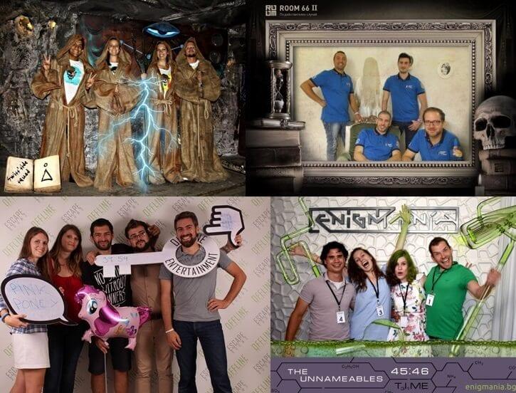 תמונות משתתפים בחתרות חדרי הבריחה